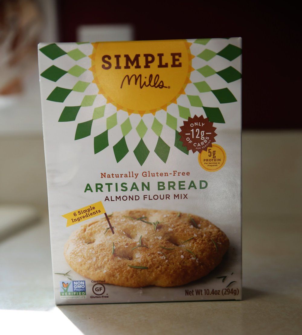 Simple Mills Bread Mix - Like the disclaimer on the chips, this is not a regular side dish at our house as we prefer to eat more whole-foods, but this does make an awesome gluten free muffin, bread loaf, or flat bread (check out our GF pizza recipe here).We typically get this one on Thrive Market, but also available on Amazon, at Whole Foods too.