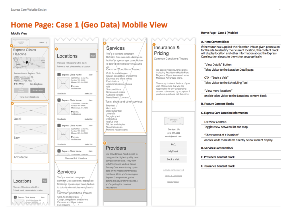 UI Spec - Mobile Home Page