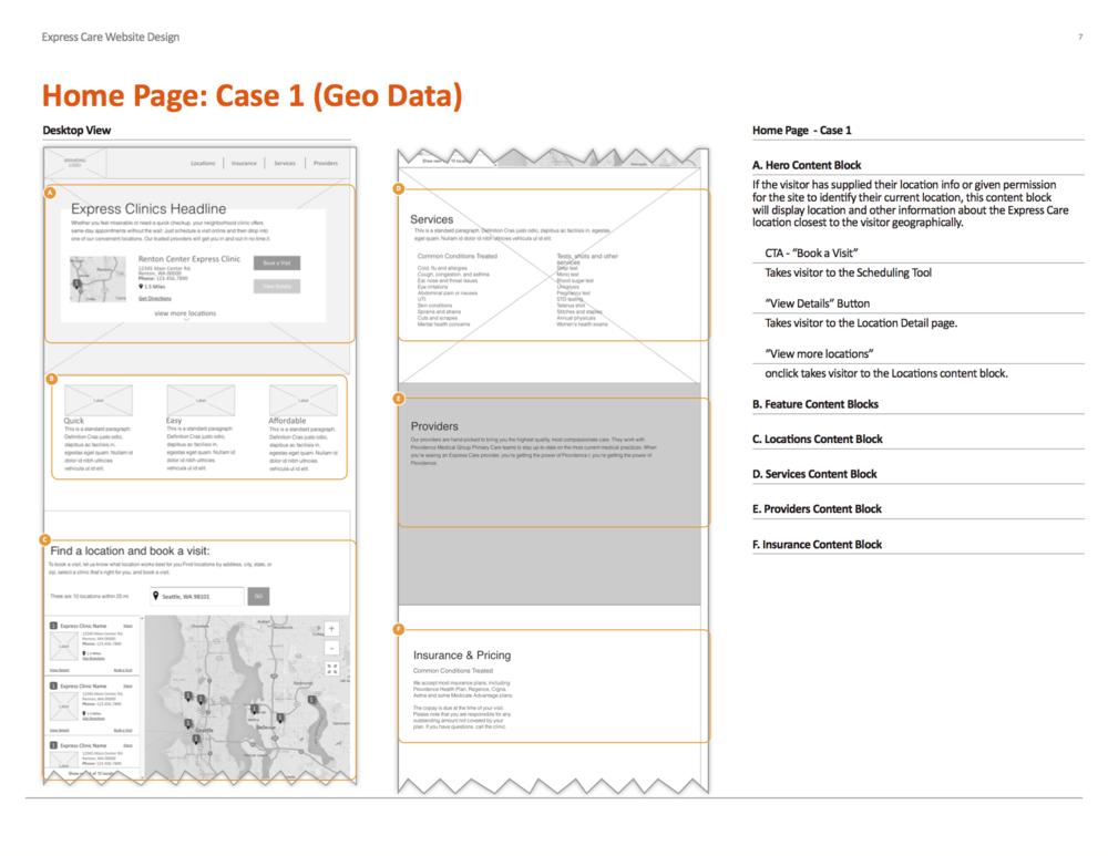 UI Spec - Desktop Home Page