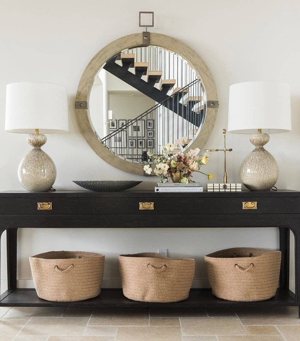 Entryway Table Design by Studio McGee, photo by Travis Richardson