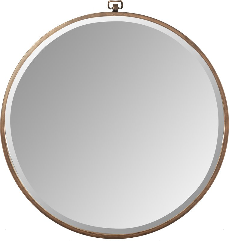 Large Round Brass, Minerva Mirror from All Modern $185.99