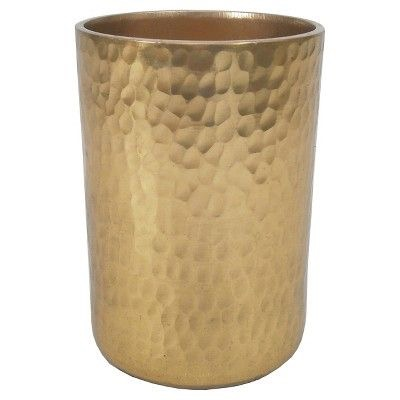 Hammered Gold Pencil Holder/Vase $6.99 at Target! Nate Berkus.
