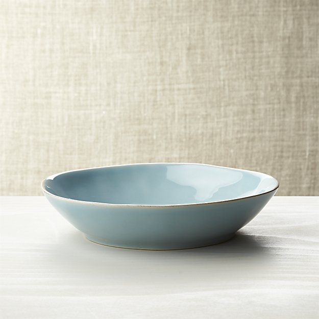 Crate & Barrel aqua pasta bowl $7.96