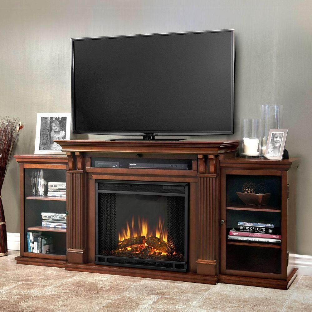 Southern Enterprises Jackson 70.25n Freestanding Fireplace in Espresso with bookshelves, $599 from Home Depot