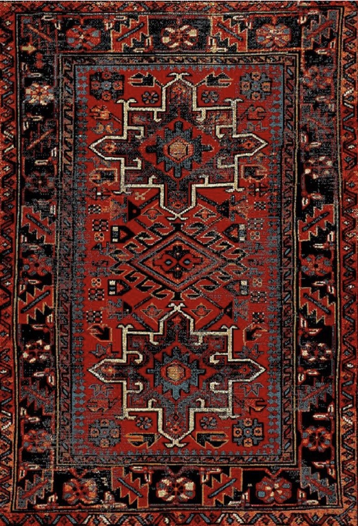 Red Hamadan rug by Safavieh from Home Depot, 7x9 feet for $186! Red and Multi colored tribal print rug