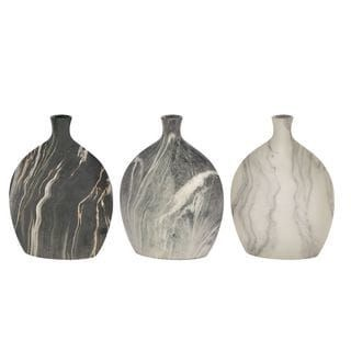 $41.49 for a set of 3 ceramic faux marble vases 9x13inches each