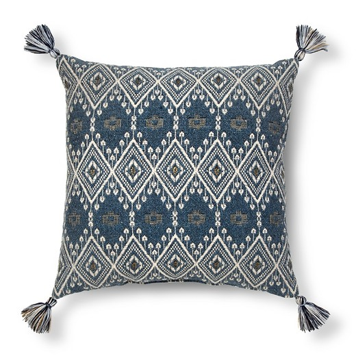 Blue Metallic Target Pillow, $18.99