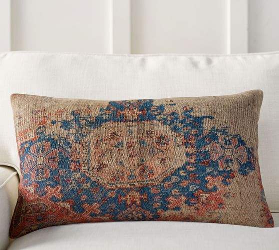 $45.50 Navin Print Pottery Barn 16x24 Lumbar Pillow Cover, Inserts also available