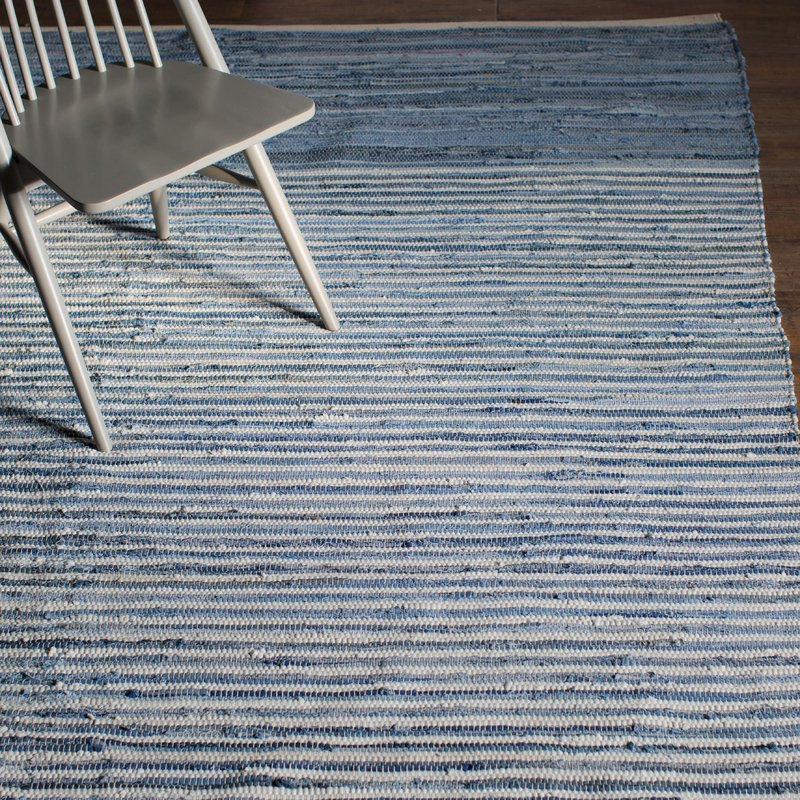 Cotton Sky Blue area rug, Hand Woven, Joss & Main $289 for 8x11