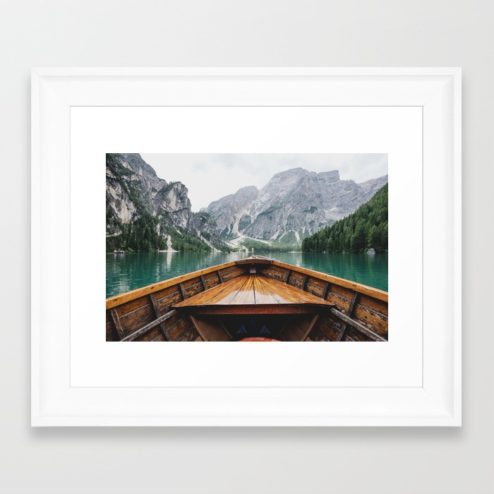 """Live the Adventure"" by Adventure is Calling, Photo Print from Society 6, Scoop White Frame 15x21 $49.99"