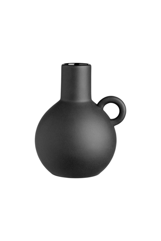 Small Black Stoneware Vase, H&M $12.99