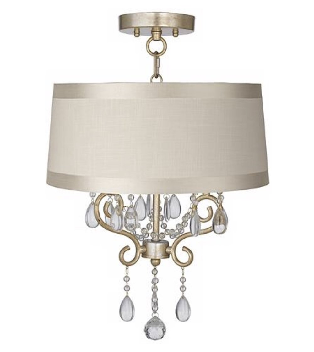 "Conti 16""wide chandelier with drum shade, $174.99 from Lamps Plus"