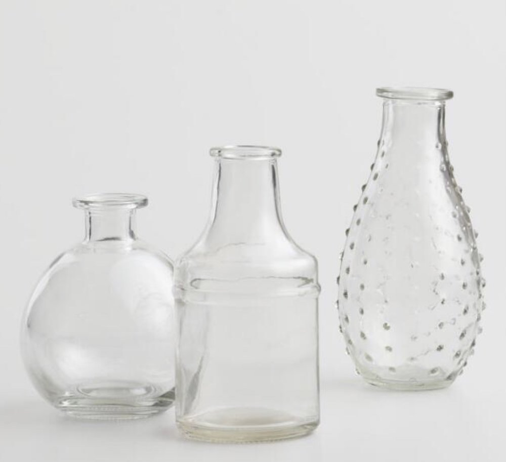 3 Glass Bud Vases, $5.97 from World Market