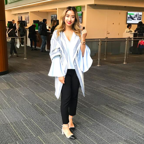 Keep it classy, but don't be afraid to mix things up. Debbie is wearing: Coat // Anthropologie, Blouse // Topshop, Pants // T. Babaton via Aritzia, Shoes // Topshop