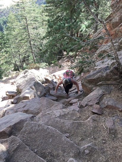 Proof that I am somewhat of a badass, and bouldered in Boulder.