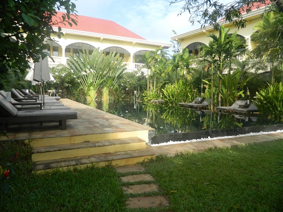 The beautiful oasis that is the Hotel Pavilion d'Orient.
