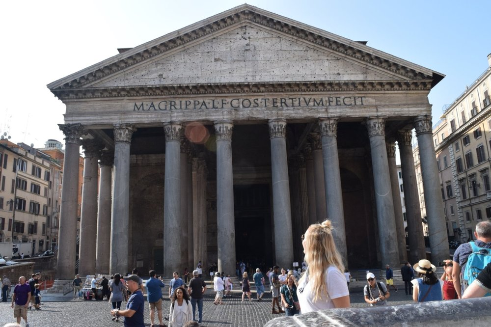 The Pantheon.  The place where I would eat pizza, indulge in gelato, and heave late night talks with friends while living in Rome.
