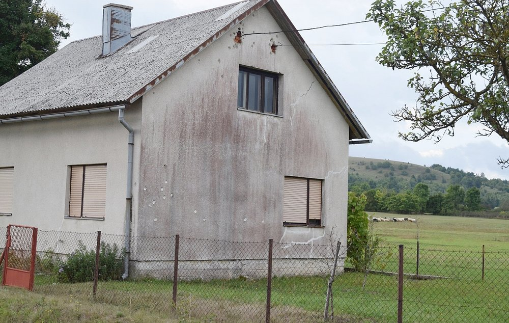 Homes in the area still have bullet pock marks, a reminder of the Yugoslav wars.