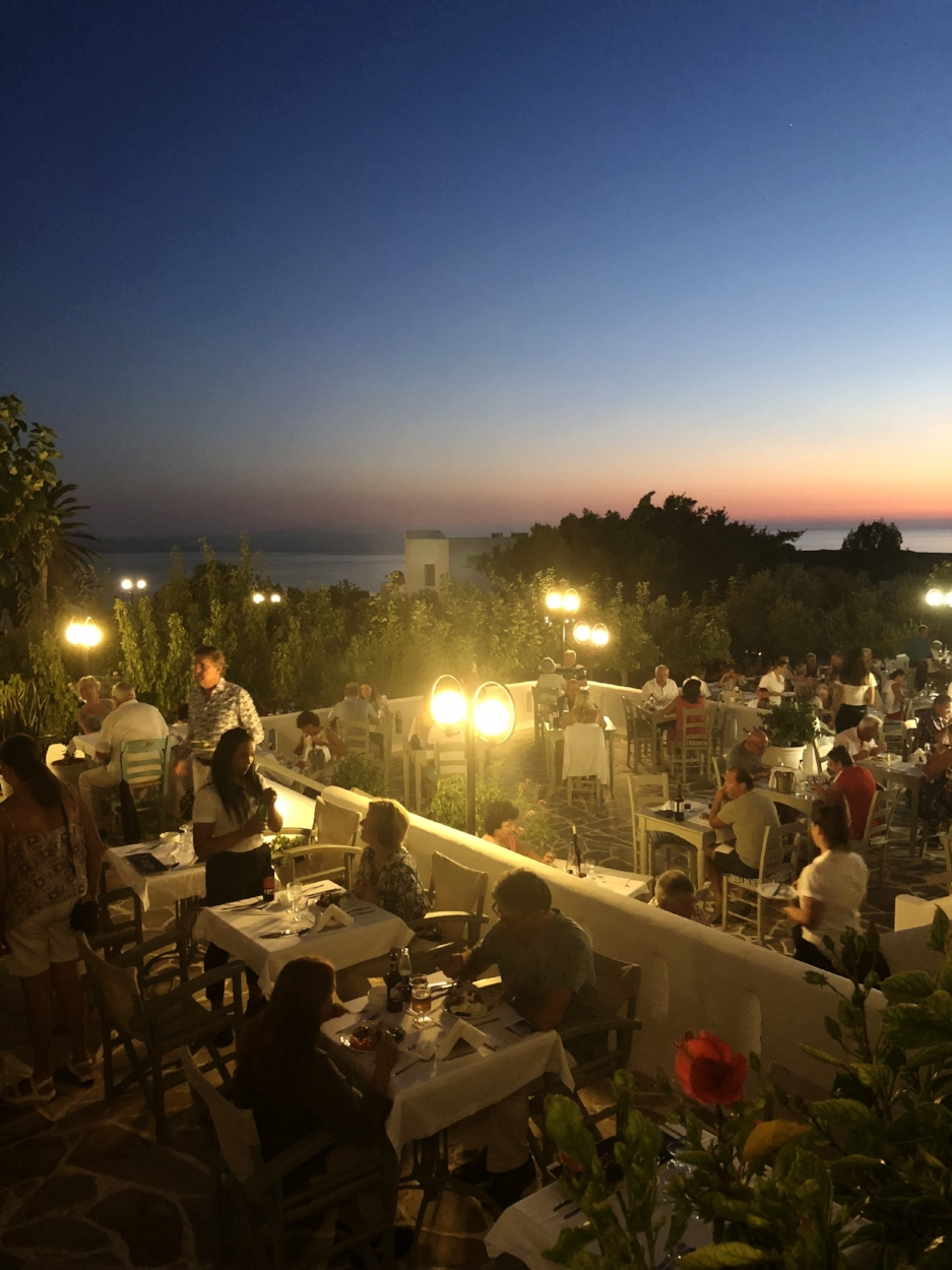 Dine al fresco every night, with a wide range of choices at dinner.