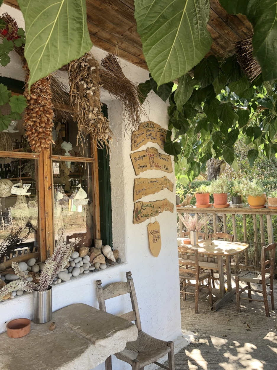 Grab a glass of lemonade on the porch of the gorgeous Wild Herbs of Crete.