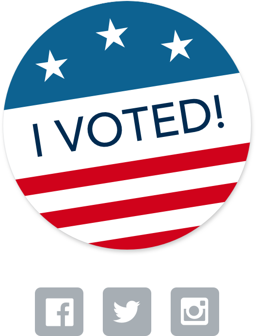 Engagement - We learned that voters loved the 'I Voted' sticker, so we took a relic of the analog voting process and created a shareable digital version of it.