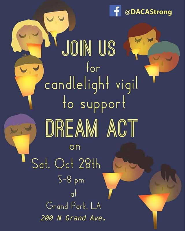 We are so excited to be co-hosting our first on-the-ground event along with @caforprogress , @fwdus , @undocumedia , and @centrocso among others. Stand with us at the Candlelight Vigil to support a #CleanDreamAct
