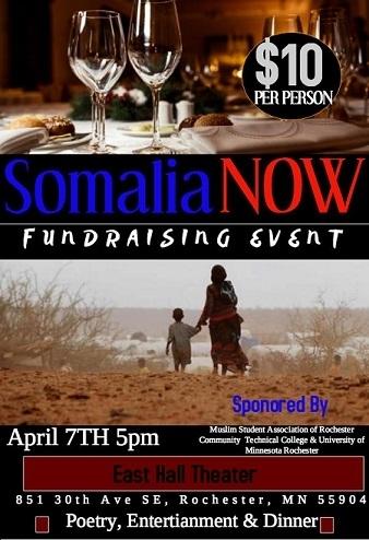 4/7 - Somalia Now Fundraiser Event, Rochester