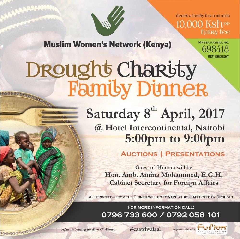 4/8 - Drought Charity Family Dinner, Nairobi, Kenya