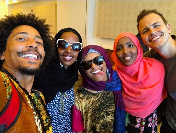 From the left: Chaka Bar, Ayaan(Mataano), Kat Graham, Nimco Ahmed Jerome Jarre