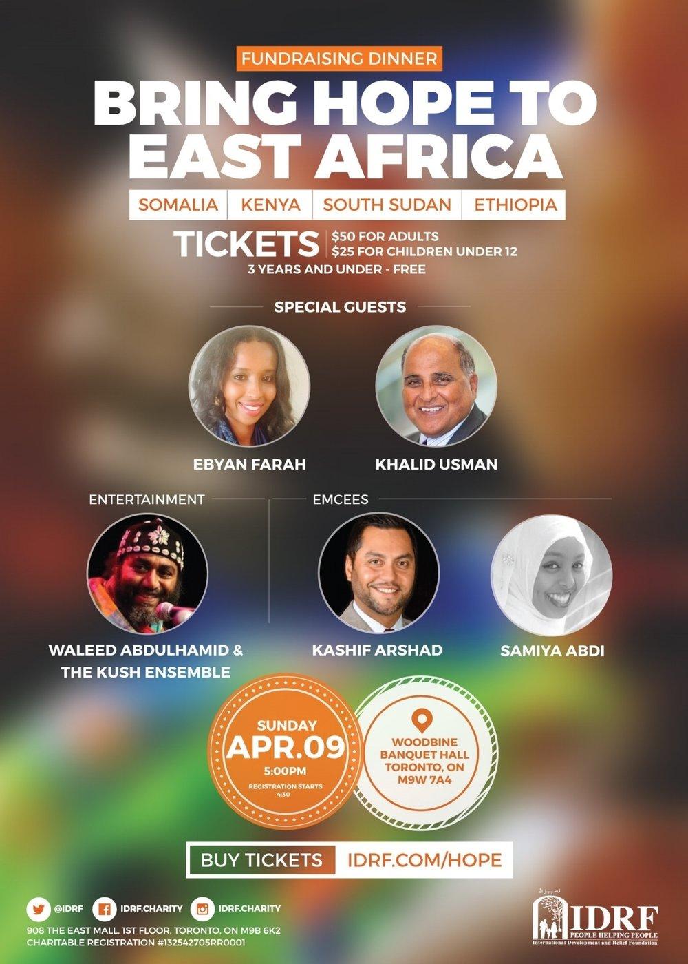 4/9 - Bring Hope To East Africa, Toronto, Ontario