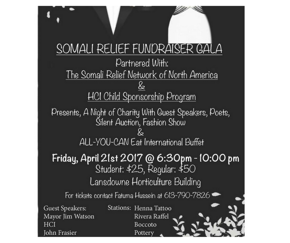 4/21 - Somali Relief Fundraiser Gala, Ottawa, Canada