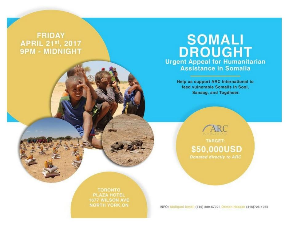 4/21 - Somali Drought Appeal, Toronto, Ontario