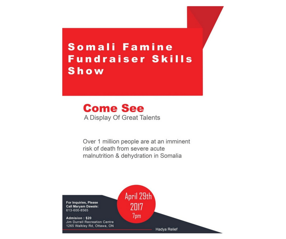 4/29 - Somali Famine Fundraiser Skills Show