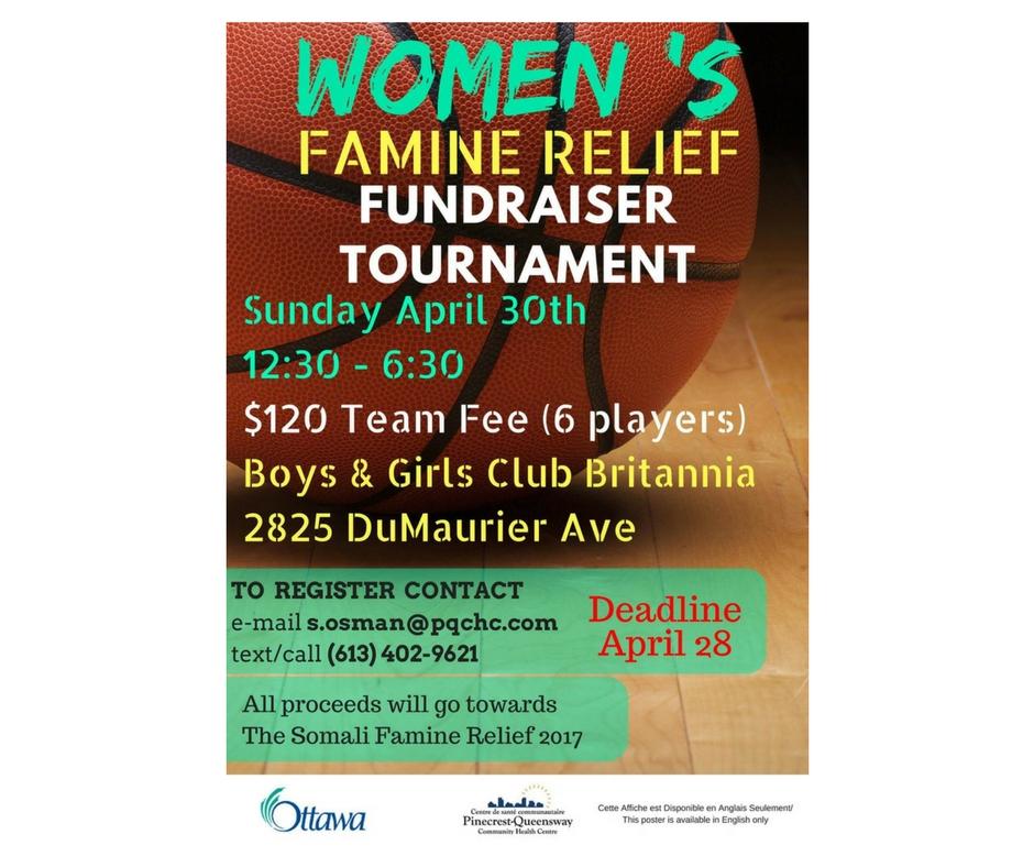 4/30 - Women's Famine Relief Fundraiser Tournament, Ottawa, Canada