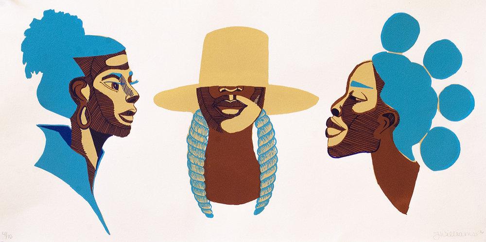 "Untitled (Three Matriarchal Heads)"""
