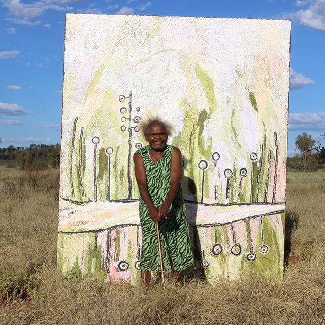 Congratulations Wawiriya Burton, selected as a finalist for the 2018 Wynne Prize @artgalleryofnsw #wawiriyaburton #cultureboss #wynneprize #landscapepainting