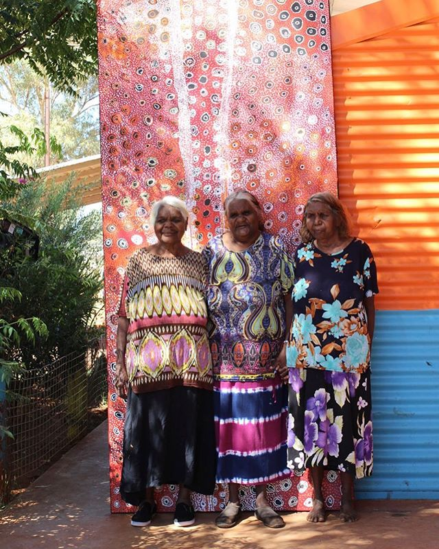 Congratulations Mona Mitakiki, Naomi Kantjuriny and Tjimpayi Presley, selected as finalists for the 2018 Wynne Prize @artgalleryofnsw #wynneprize #landscapepainting #tjalaarts