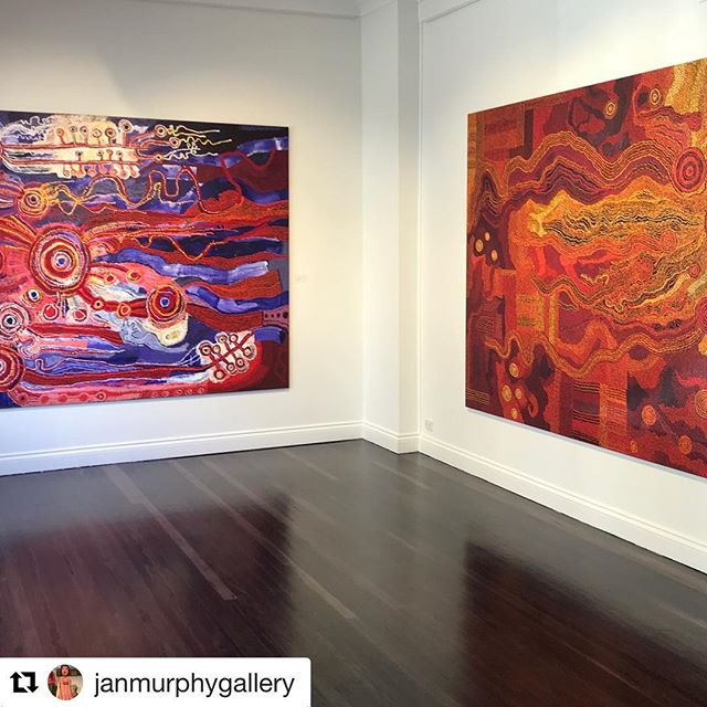Thank you for having us @janmurphygallery 💛 💛💛Ken Mob show is up until 23rd June, definitely a must see!  #Repost @janmurphygallery with @repostapp ・・・ We are wrapped in a cloak of colour at the Gallery for the next month, surrounded by the majesty and beauty of the Ken Sister's work. This exhibition is a must see - current until June 23. @TjalaArts #kensisters #tjungkaraken #sylviaken #collaboration @apy_ac_collective