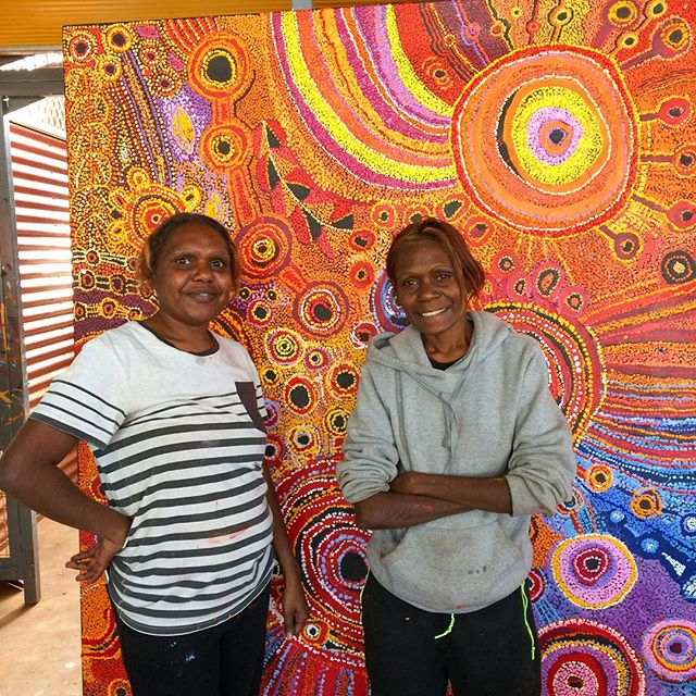 Sharon and Anastine Ken with their Young Women's Collaborative! Nice one ladies!!! 💥👏🏾💥 #tjalaarts #collaborativepainting