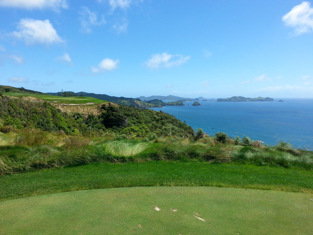 The signature 7th Hole at Kauri Cliffs - could you hit a hole in one here?
