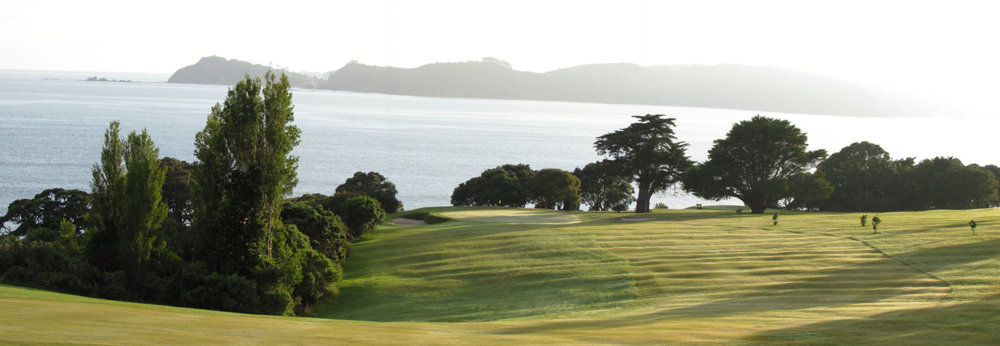 The 14th hole at Waitangi Golf Club
