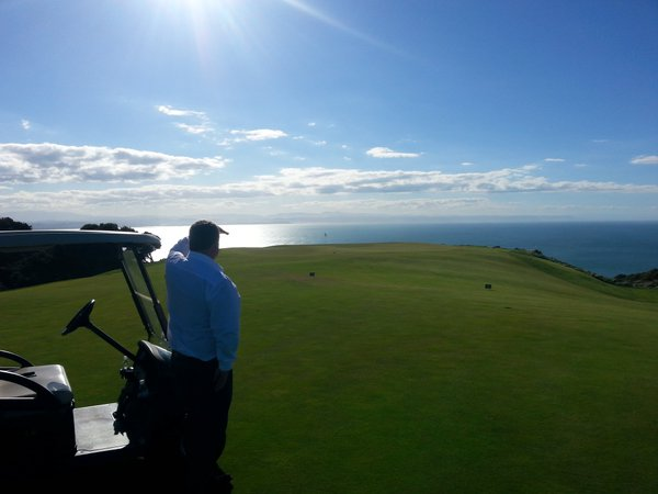 The view at Cape Kidnappers