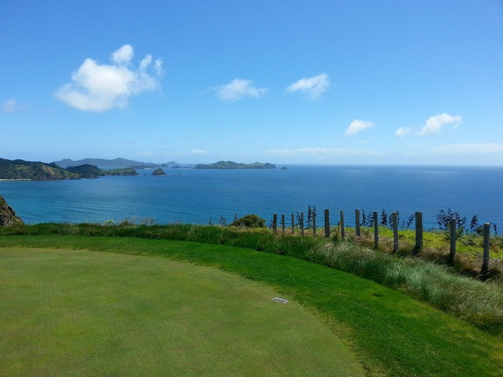 The view from the 7th hole at Kauri Cliffs