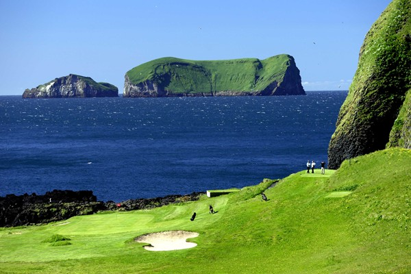 Westmans Golf Course - nestled in the crater of an extinct volcano!
