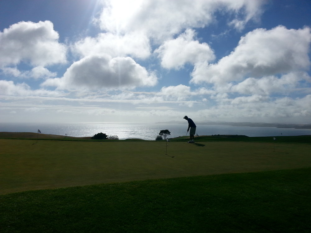 The views are stunning at Kauri Cliffs