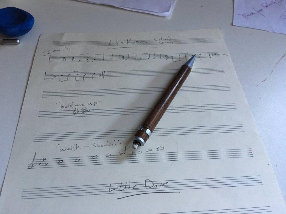 John's notes for  Lindsay Clark's  recording session