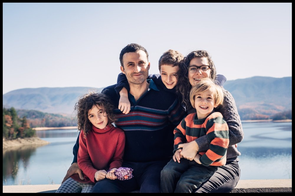 Jacklyn Brickman with husband, Andrew Bahrou, son Felix, age 10, daughter Sabine, age 7, and son Reuben, age 4.