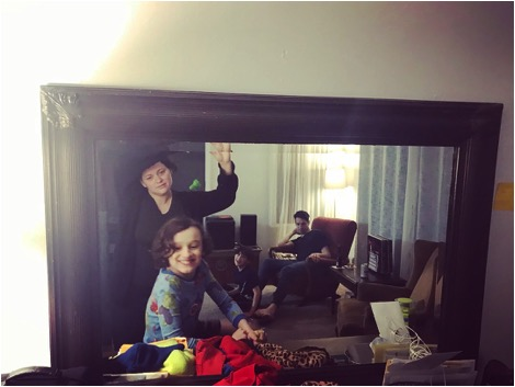 The Conway family in their mirror.