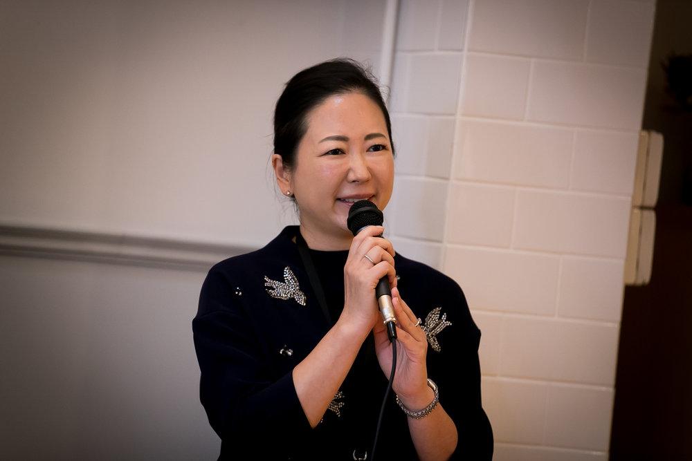 Public Relations Group Operating Officer of Warehouse TERRADA - Akiko WAKIYAMA Welcoming Everone.jpg