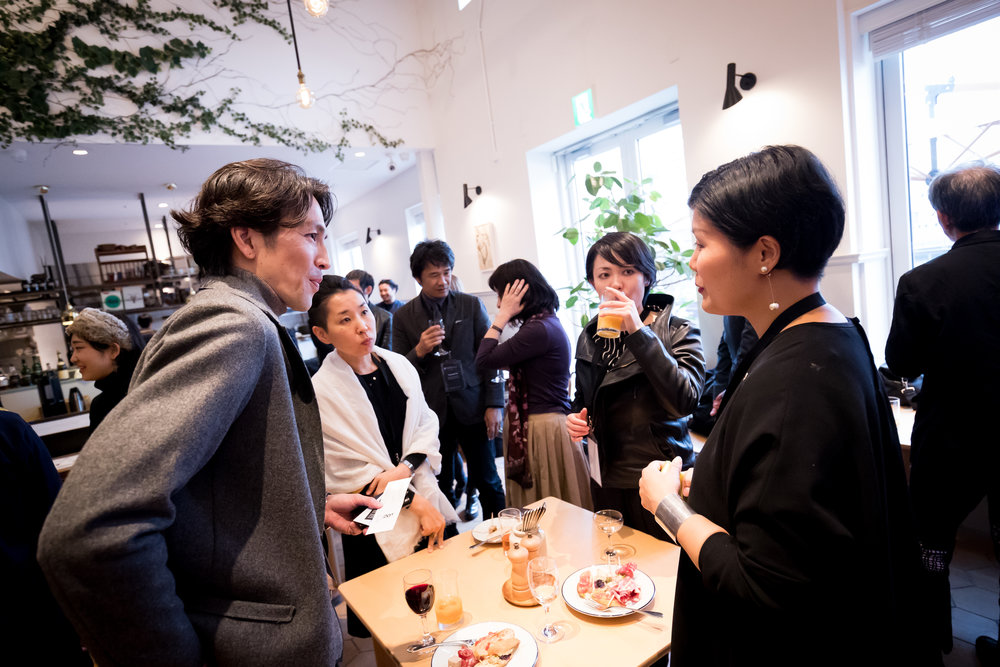 Keisuke Kikuchi of Japanese Architect Firm Tokisekkei  (Front Left) and Japanese Graphic Designer Chikako Oguma (Front Right) .jpg